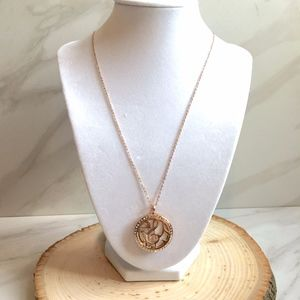 Music Aromatherapy Pendant Rose Gold Necklace